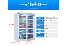 XL1400D2F两门平头分体展示柜